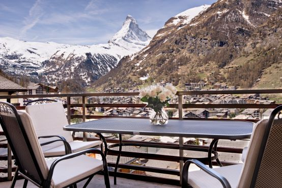 View Of The Majestic Matterhorn And The Town Of Zermatt From Your Apartment