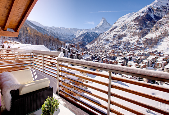 Exceptional View Of The Majestic Matterhorn And The Town Of Zermatt From Your Apartment